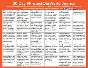 30-Day #ProtectOurWorld Journal
